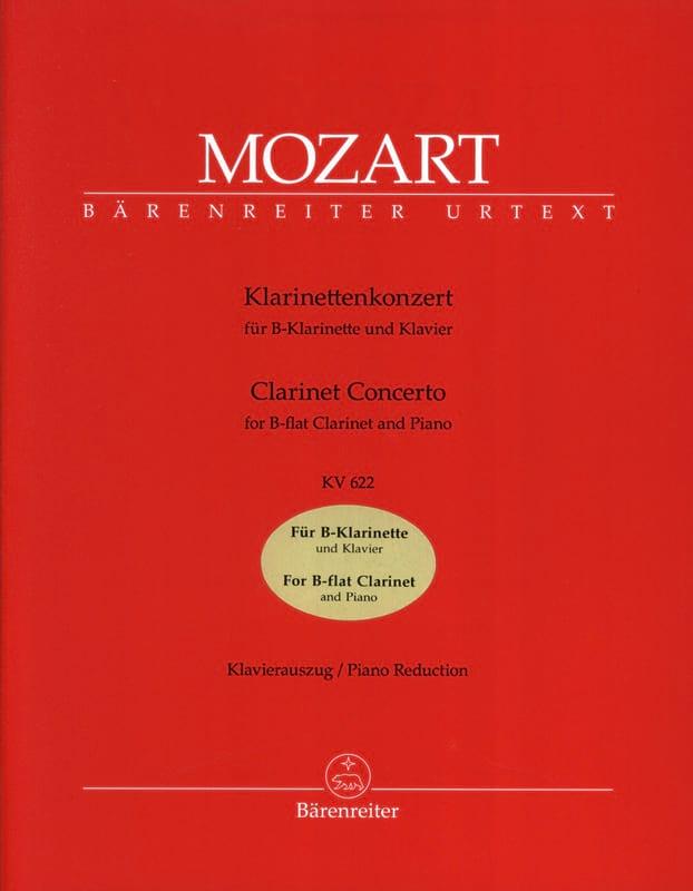MOZART - Clarinet Concerto KV 622 - Clarinet Version in B flat - Partition - di-arezzo.co.uk