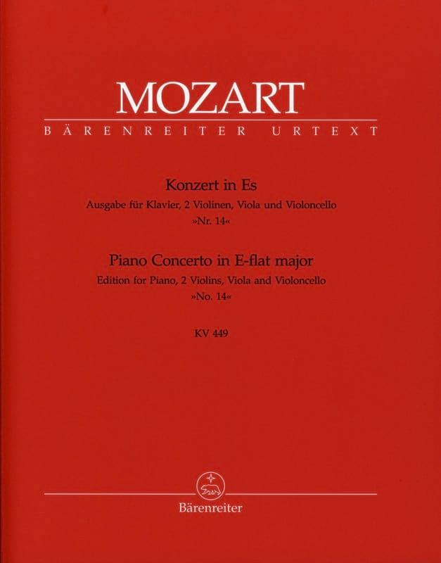 Concerto pour piano Nr. 14 Es-Dur KV 449 -version pour quintette. - laflutedepan.com