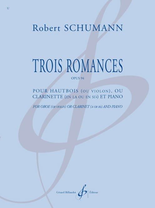 SCHUMANN - 3 Romances - Hautbois et piano - Partition - di-arezzo.fr