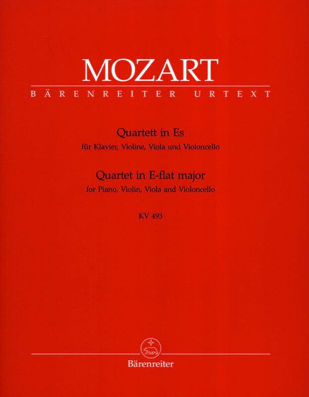 MOZART - Quartet in E flat major KV 493 - Instrumental parts - Partition - di-arezzo.com