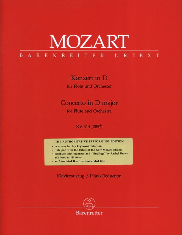 MOZART - Flute Concerto No. 2 in D major KV 314 - Partition - di-arezzo.co.uk