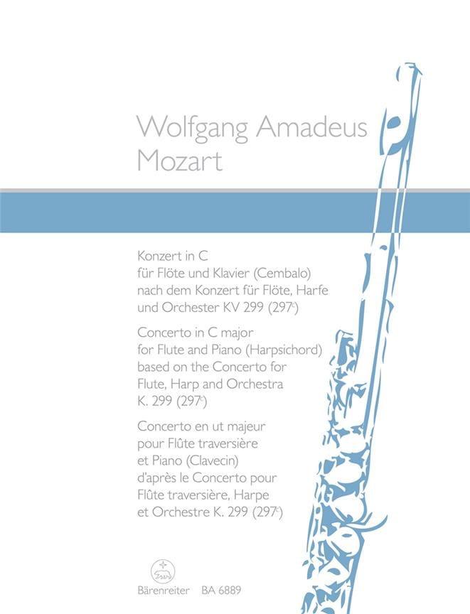 Konzert in C nach dem Konzert KV 299 - Flöte KlavierCembalo - laflutedepan.com