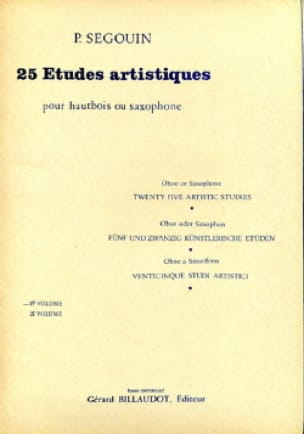 Paul Segouin - 25 Artistic Studies - Volume 1 - Partition - di-arezzo.co.uk