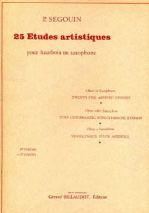 Paul Segouin - 25 Artistic Studies - Volume 2 - Partition - di-arezzo.co.uk