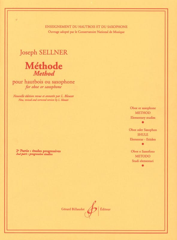 Joseph Sellner - Method - Volume 2 - Partition - di-arezzo.com