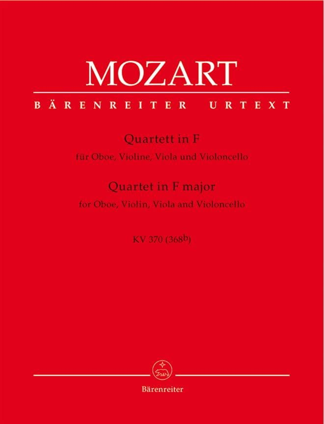 MOZART - Quartett F-Dur KV 370 - Violine Viola Viola Violoncello - Partition - di-arezzo.co.uk