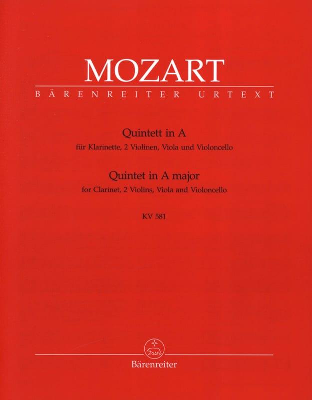 MOZART - Quintet in Major KV 581 - Clarinet and string quartet. Instrument parts - Partition - di-arezzo.co.uk