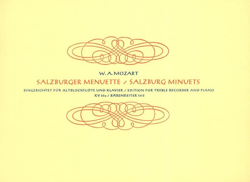 Salzburger Menuette KV 65a - Altblockflöte u. Klavier - laflutedepan.com