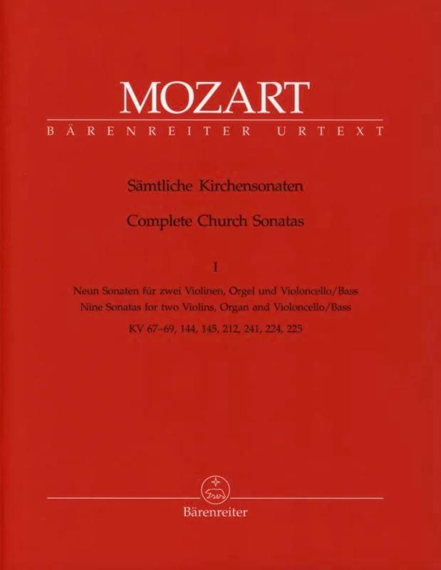 MOZART - Sämtliche Kirchensonaten - Heft 1 - Partition - di-arezzo.co.uk