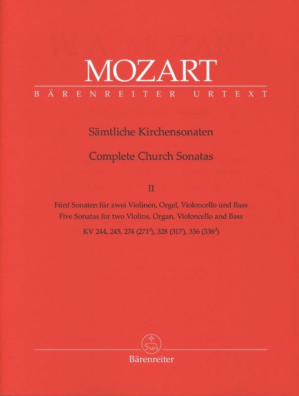 Sämtliche Kirchensonaten - Heft 2 - MOZART - laflutedepan.com