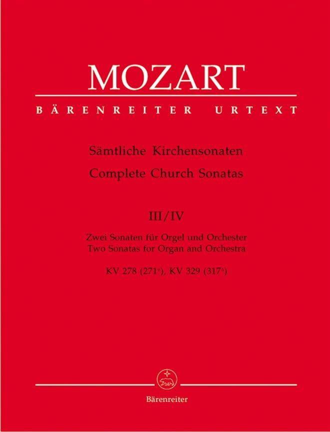 Kirchensonaten KV 278, KV 329 - Partitur - MOZART - laflutedepan.com