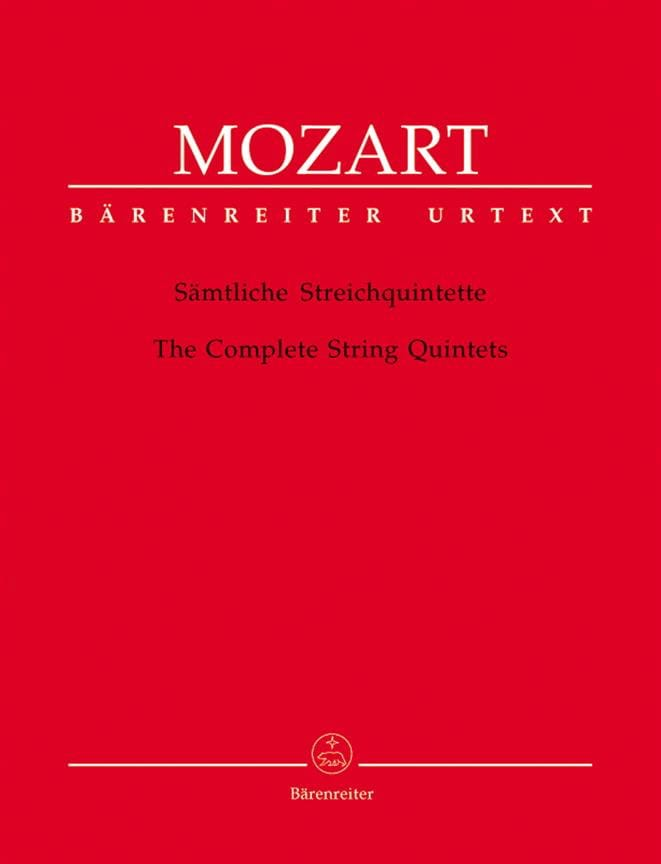 MOZART - Complete string quintet - Partition - di-arezzo.co.uk