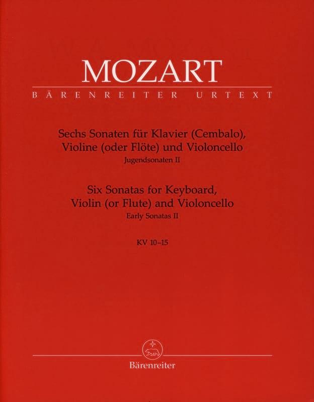 6 Sonates pour Piano, Violon , Violoncelle KV 10-15 - laflutedepan.com