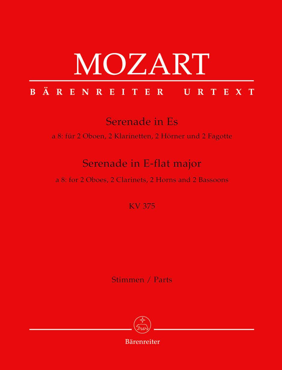 MOZART - Serenade Es-Dur KV 375 - Bläseroktett - Stimmen - Partition - di-arezzo.co.uk