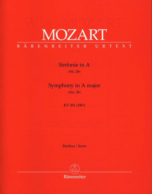 Symphonie Nr. 29 A-Dur KV 201 - Partitur - MOZART - laflutedepan.com
