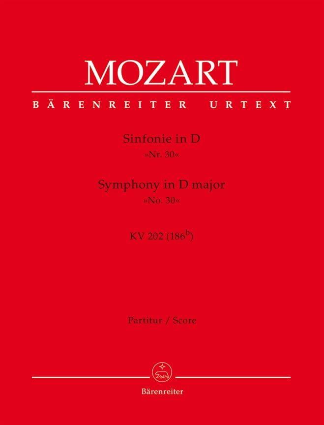 Symphonie D-Dur KV 202 - Partitur - MOZART - laflutedepan.com