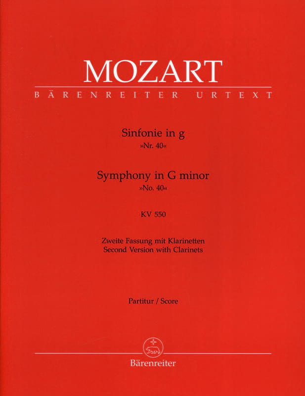 MOZART - Symphony Nr. 40 G-Moll Kv 550 - Partition - di-arezzo.co.uk