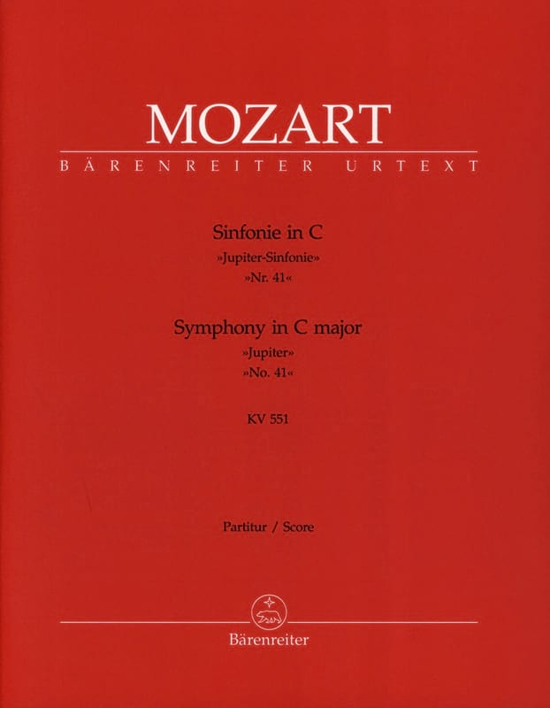 MOZART - Symphony Nr. 41 C-Dur KV 551 Jupiter - Partitur - Partition - di-arezzo.co.uk