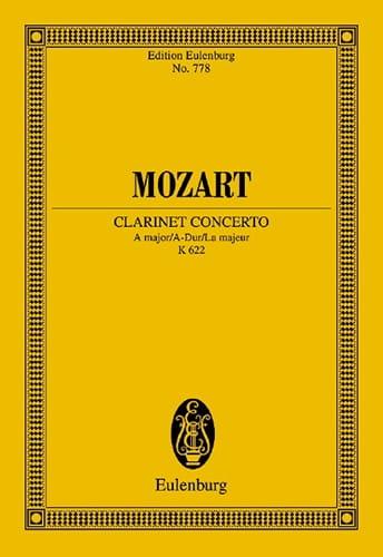 Klarinettenkonzert A-Dur KV 622 - Partitur - MOZART - laflutedepan.com