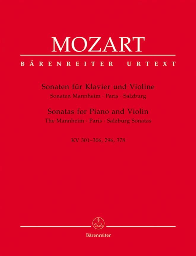 MOZART - Sonatas of Mannheim, Paris and Salzburg - Partition - di-arezzo.co.uk