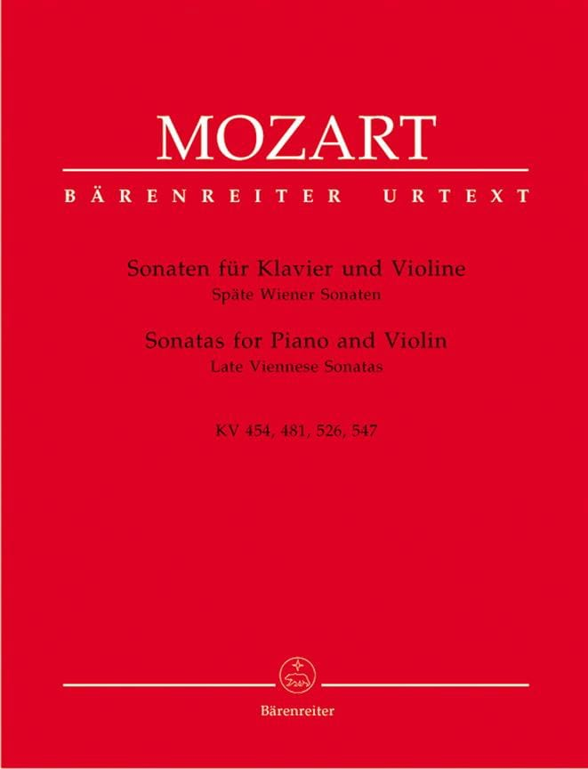 MOZART - Sonaten - Späte Wiener Sonaten - Partition - di-arezzo.es