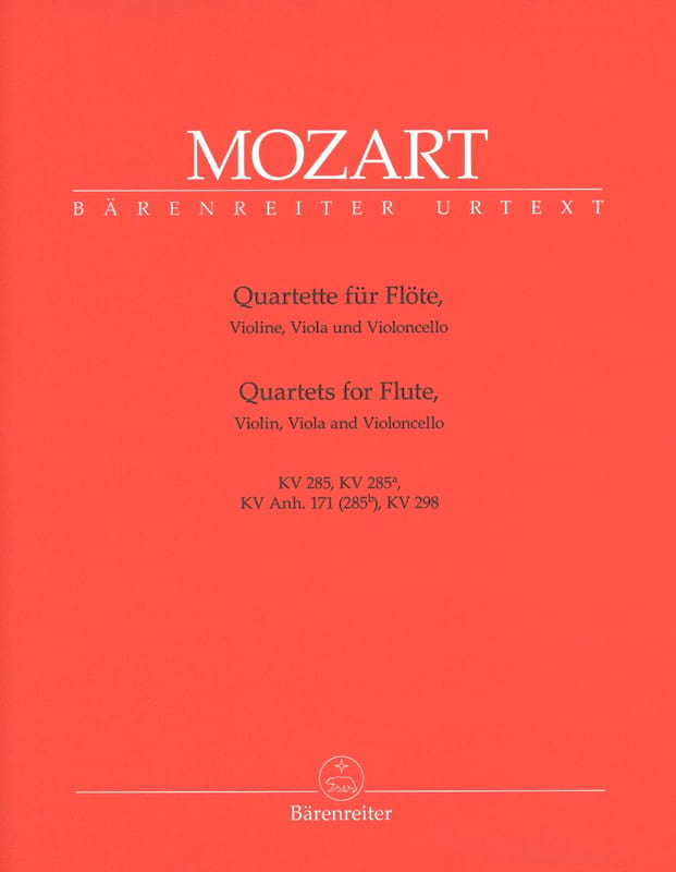 MOZART - Flute Quartets - Instrumental Pieces - Partition - di-arezzo.co.uk