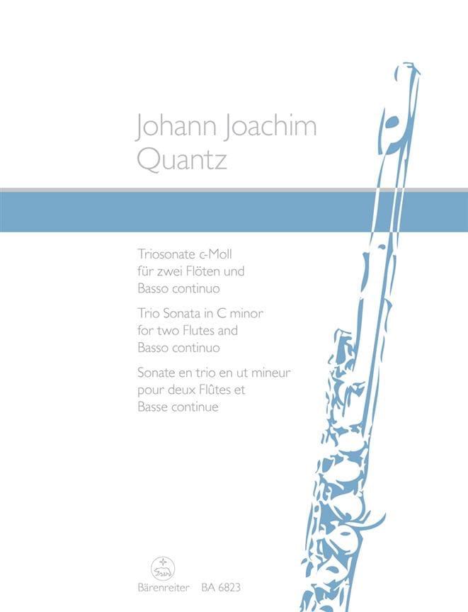 Triosonate c-moll -2 Flöten et Bc - QUANTZ - laflutedepan.com