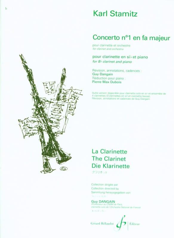 Carl Stamitz - Clarinet Concerto No. 1 in F major - Partition - di-arezzo.co.uk