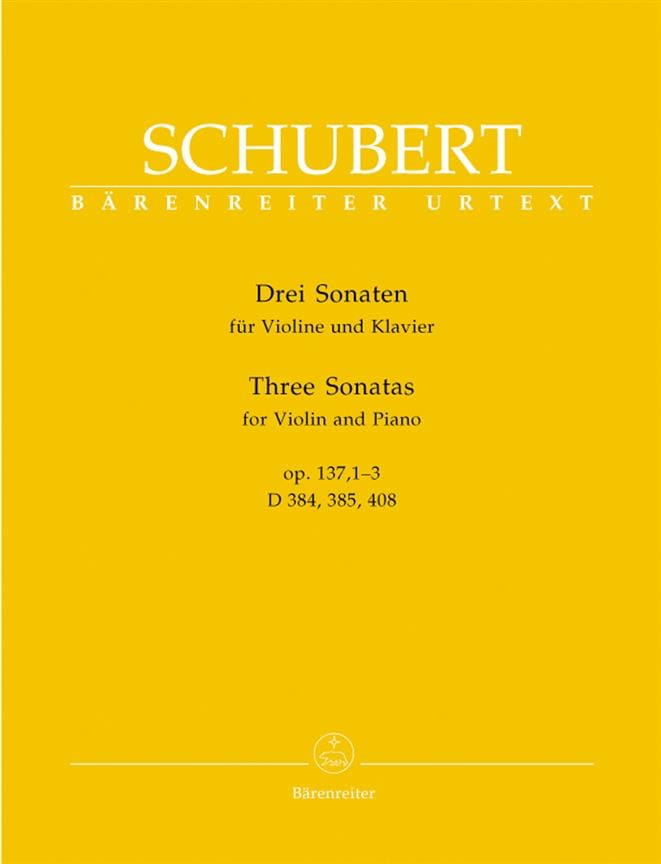 SCHUBERT - 3 Sonatas op. 137 - Partition - di-arezzo.co.uk
