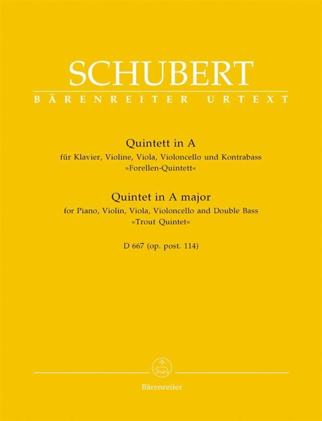 Quintette de la Truite en La Majeur D 667 -Parties instrumentales - laflutedepan.com