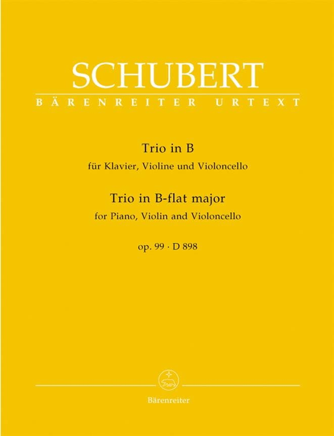 SCHUBERT - Klaviertrio B-Dur op. 99 D 898 - Stimmen - Partition - di-arezzo.co.uk