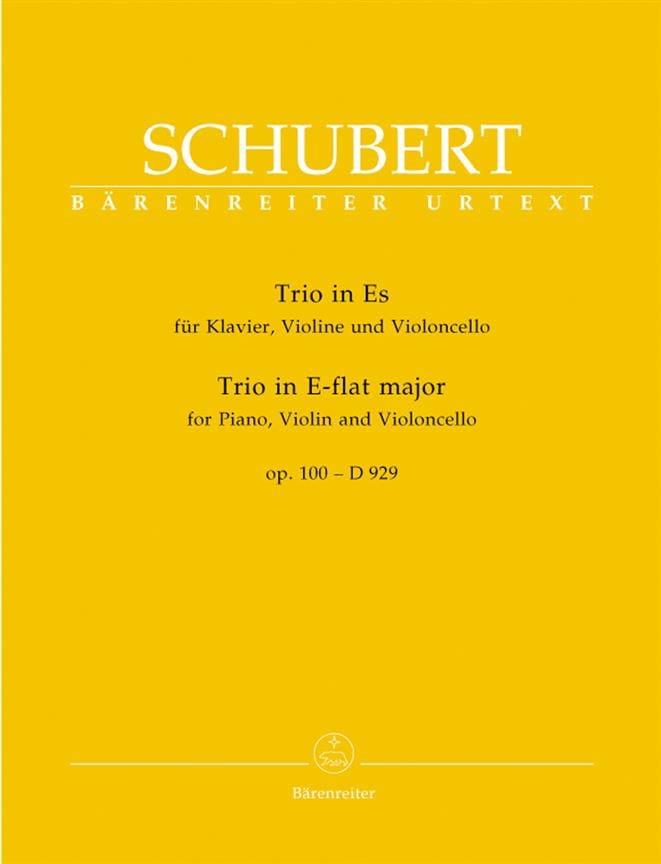 SCHUBERT - Trio in E Flat Major op. 100 - D 929 - Partition - di-arezzo.co.uk