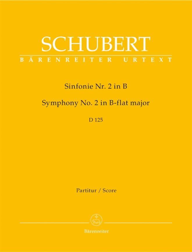 Symphonie Nr. 2 B-Dur D. 125 - Partitur - SCHUBERT - laflutedepan.com