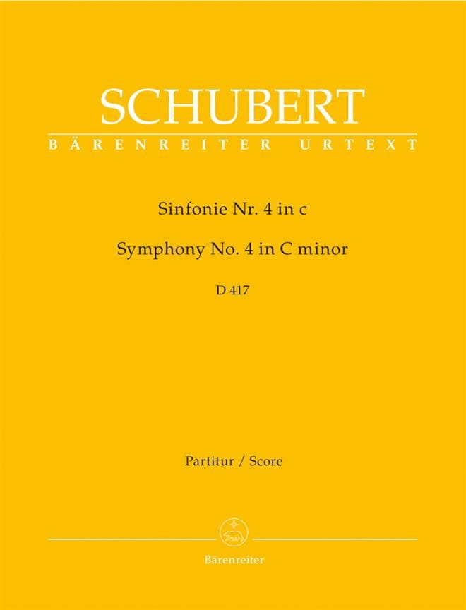 SCHUBERT - Symphony Nr. 4 c-moll D. 417 - Partitur - Partition - di-arezzo.co.uk