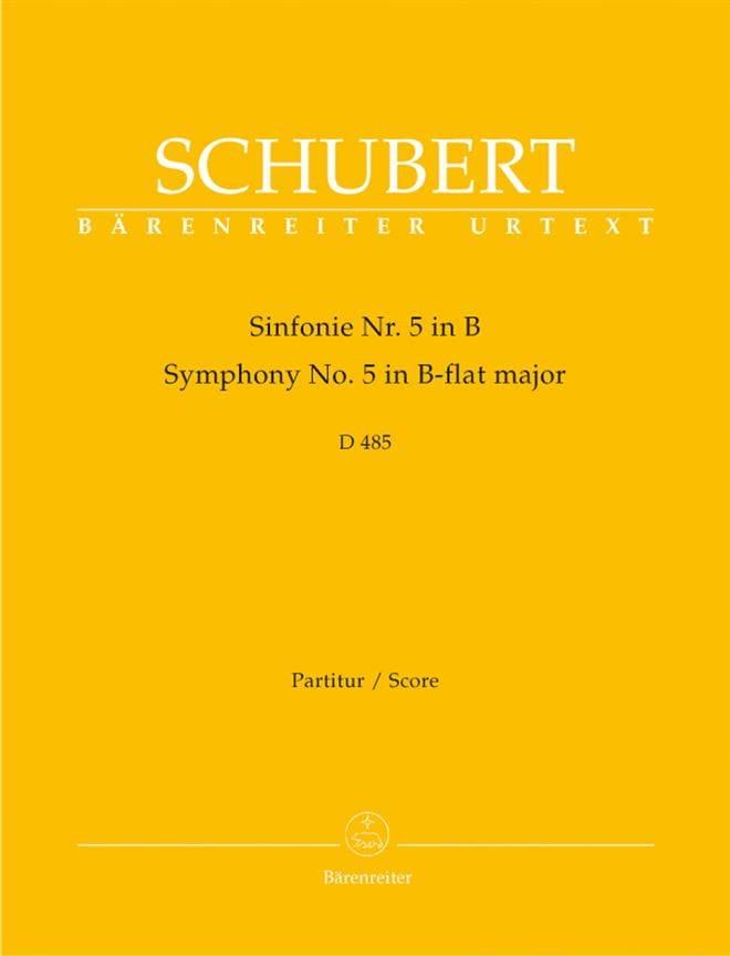 SCHUBERT - Sinfonía Nr. 5 B-Dur D. 485 - Partitur - Partition - di-arezzo.es