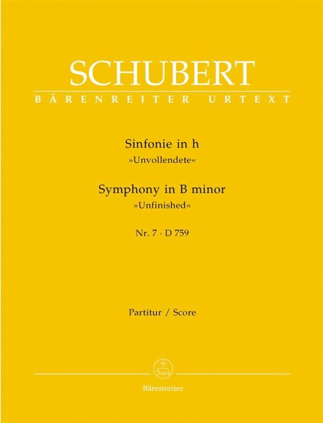 SCHUBERT - Sinfonía n. ° 7 h-moll D. 759 - Partitur - Partition - di-arezzo.es