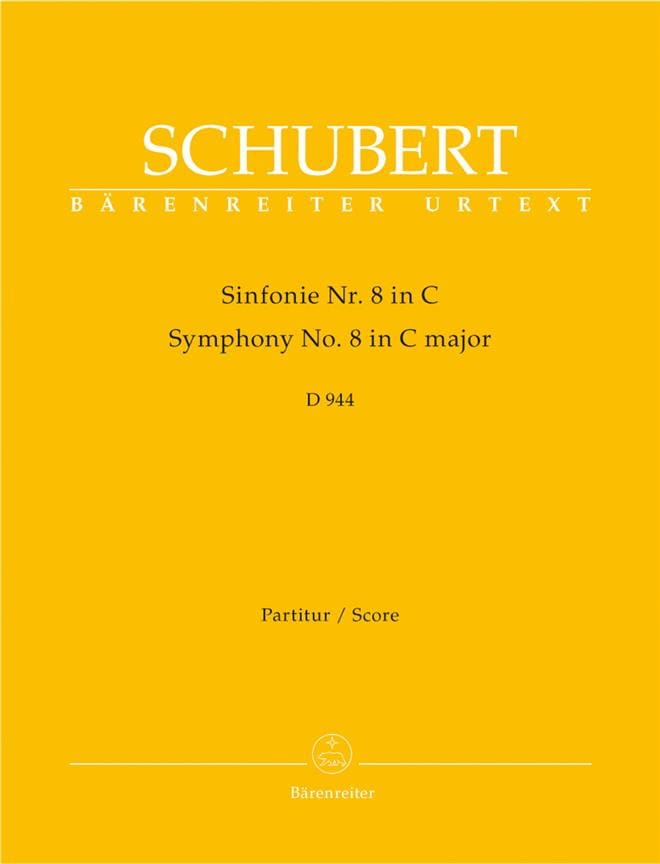 SCHUBERT - Symphony No. 8 C-Dur D 944 - Partitur - Partition - di-arezzo.co.uk