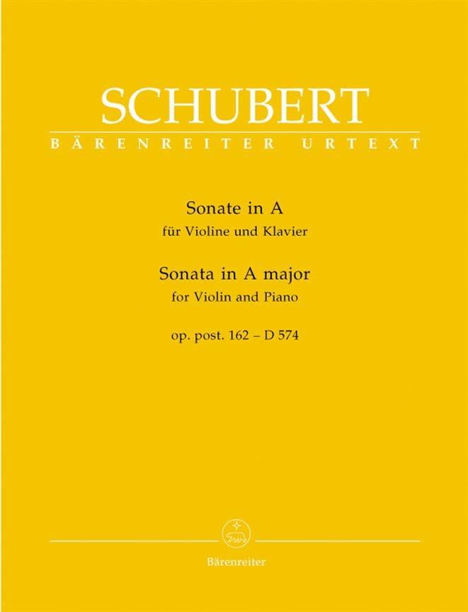 SCHUBERT - Sonata A-Dur op. Posth. 162 - D 574 - Partition - di-arezzo.es