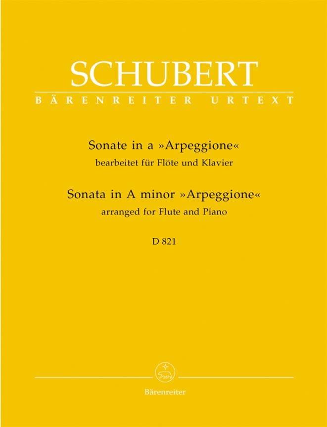 SCHUBERT - Arpeggione Sonata in A minor - Partition - di-arezzo.co.uk