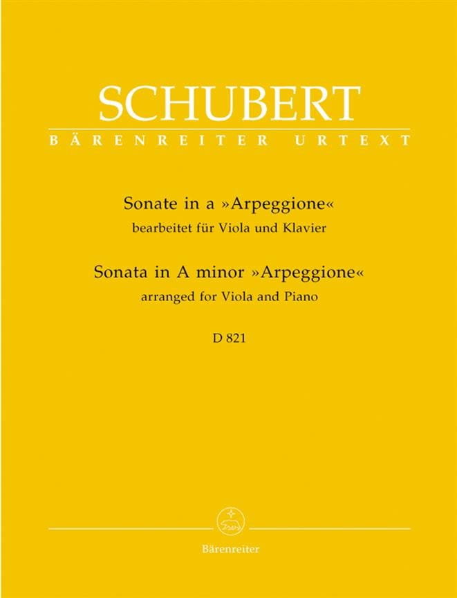 SCHUBERT - Sonata in the Minor Arpeggione D 821 - Viola and Piano - Partition - di-arezzo.co.uk
