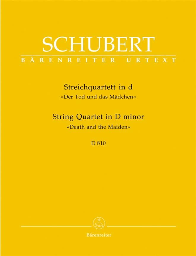 SCHUBERT - String Quartet The Girl and the Death D minor D 810 - Parts - Partition - di-arezzo.co.uk