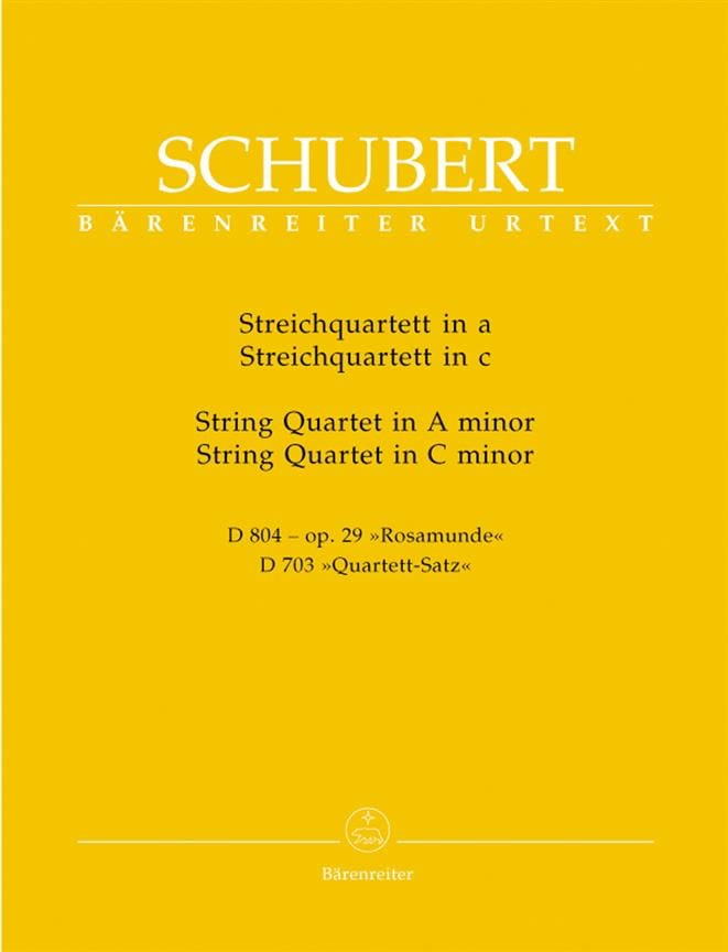 Streichquartette a-moll D 804 op. 29 / c-moll D 703 -Stimmen - laflutedepan.com