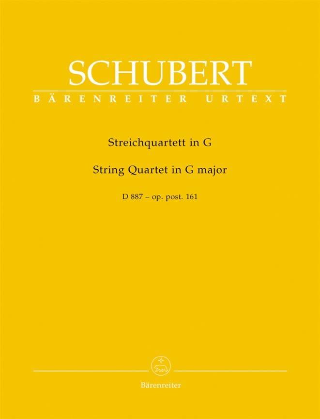 SCHUBERT - Streichquartett D 887 G-Dur - Stimmen - Partition - di-arezzo.co.uk