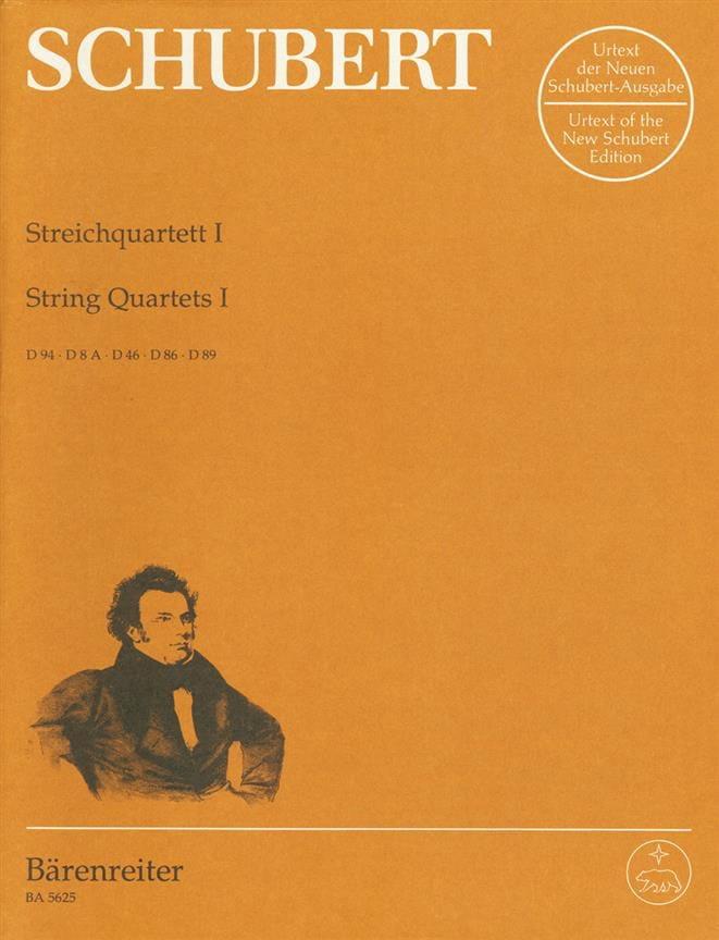 SCHUBERT - Streichquartette - Bd. 1 - Stimmen D. 94, 8a, 46, 86, 89 - Partition - di-arezzo.co.uk