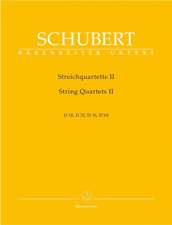 SCHUBERT - Streichquartette - Bd. 2 - Stimmen D. 18, 32, 36, 68 - Partition - di-arezzo.co.uk