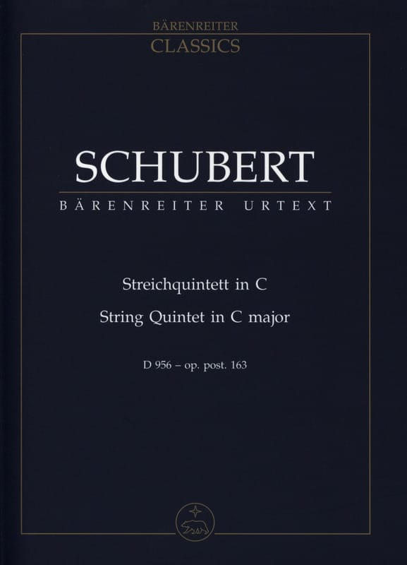 SCHUBERT - Streichquintett for 2 Violinen, Viola and 2 Violoncelli D 956 C-hard - Partition - di-arezzo.co.uk