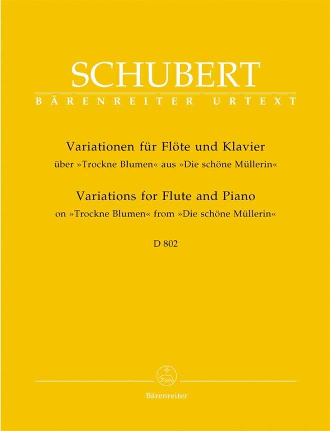 SCHUBERT - Variationen über Trockne Blumen D. 802 - Flöte Klavier - Partition - di-arezzo.es