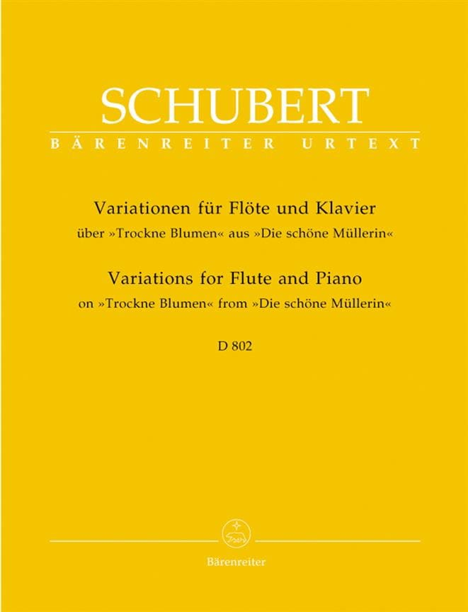 Variationen über Trockne Blumen D. 802 - Flöte Klavier - laflutedepan.com