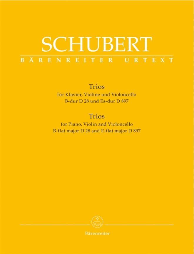 SCHUBERT - trios: piano, violin, cello in B major D 28 and E flat Major D 897 - Partition - di-arezzo.co.uk