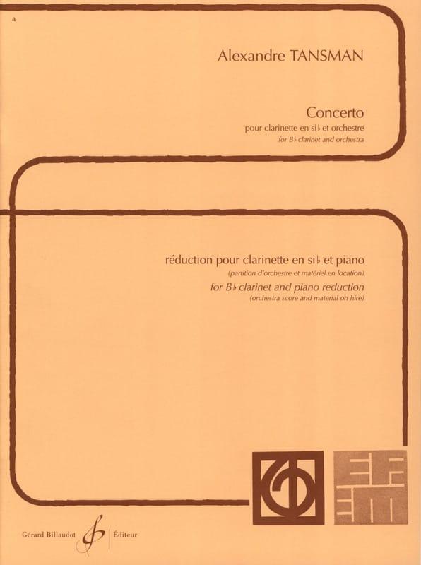 Concerto pour clarinette - Alexandre Tansman - laflutedepan.com
